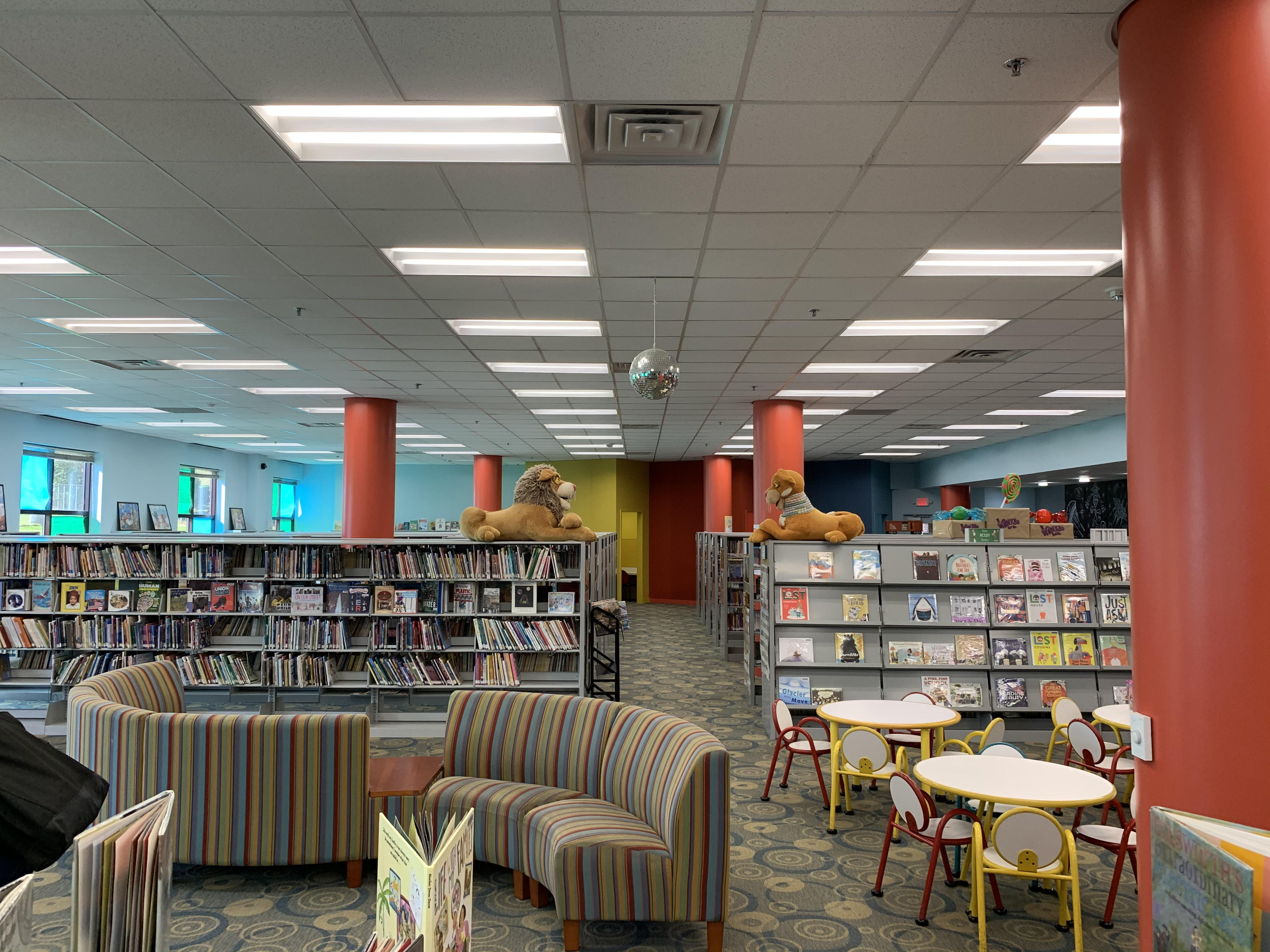children's area at Athens Clarke County Library