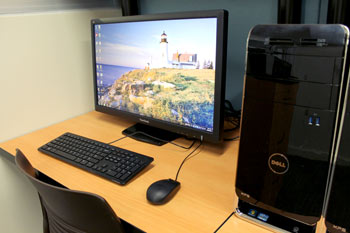 Photo of a PC station in the DMC.