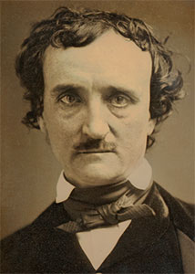 Photo of Edgar Allen Poe from 1849.  Image courtesy of Wikimedia Commons.