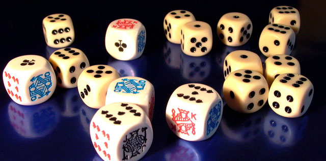 Photo of various dice.