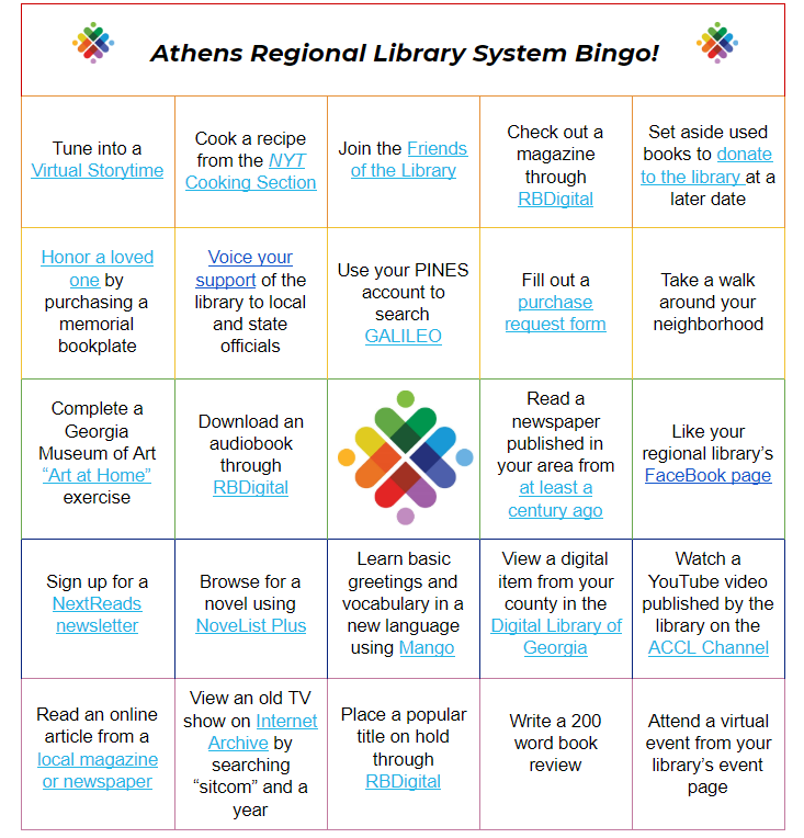 Click here to play library bingo!