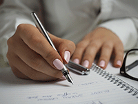 Image of a hand writing