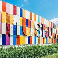 Image of a museum sign