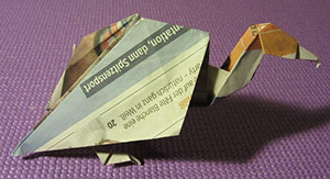Photo of origami bird
