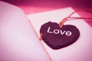 Picture of a Love bookmark
