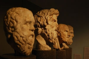 Picture of busts of famous philosophers
