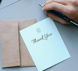 Picture of a thank you card