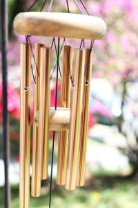 photo of a wind chime.