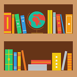 Image of a bookshelf
