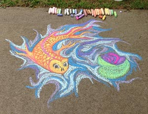 Photo of some fabulous chalk art.