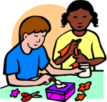 Image of children doing crafts.