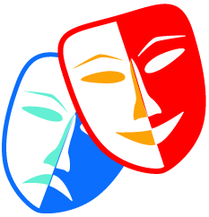 Image of comedy and tragedy masks.