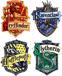 Image of the Hogwarts' House crests