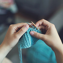 image of knitting