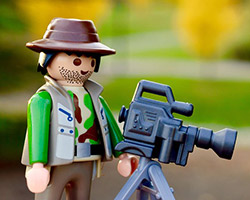 Picture of a lego filmmaker