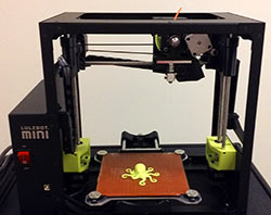 Photo of a Lulzbot 3D printer.