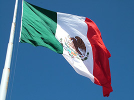 Photo of the flag of Mexico.