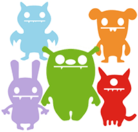 Image of a group of colorful monsters.