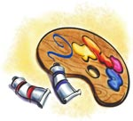 Image of painting supplies