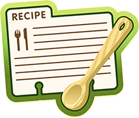 Photo of a recipe card