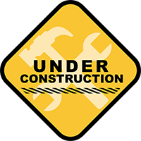 A yellow warning sign that says Under Construction.