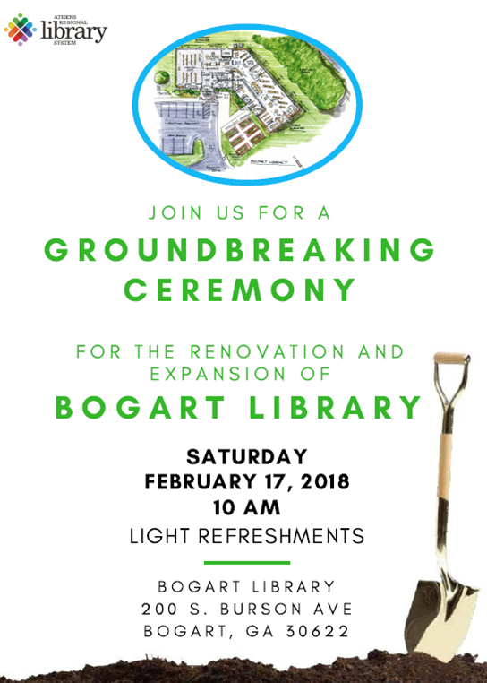 Join us for the Bogart Ground Breaking Ceremony