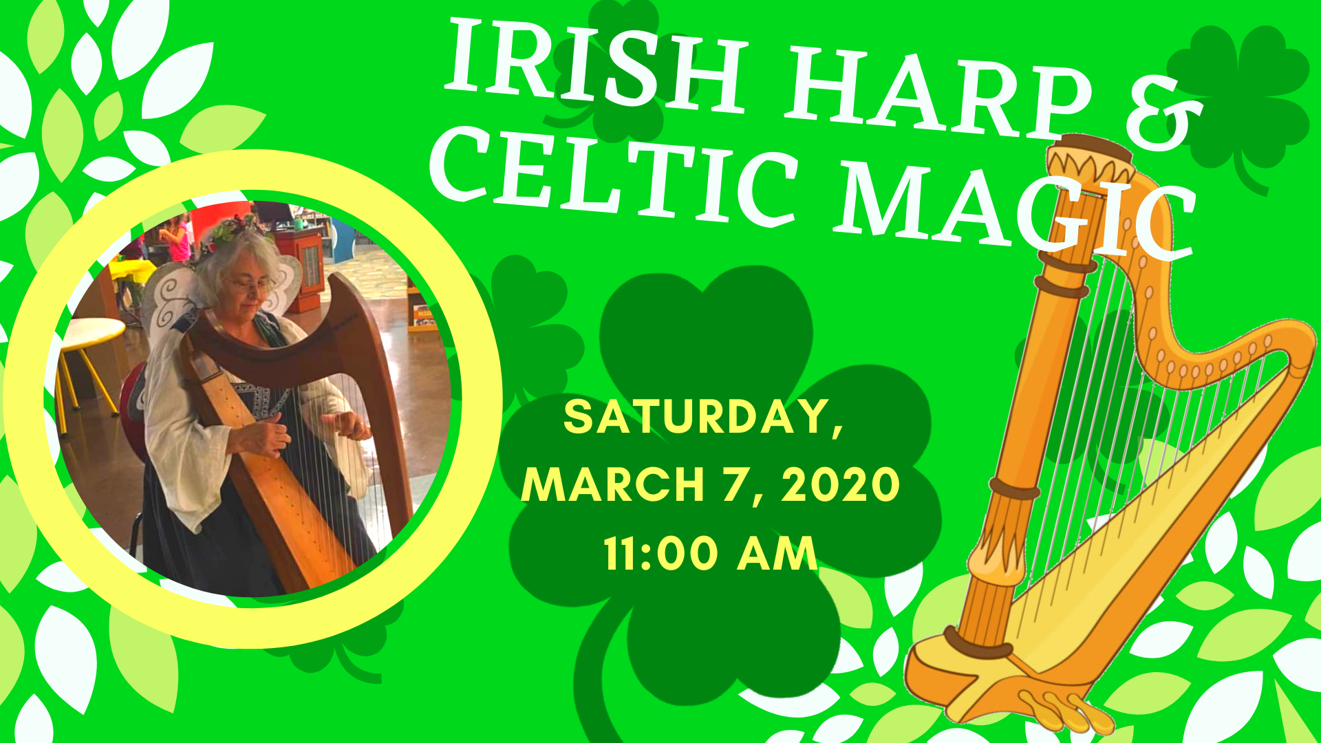 irish harp graphic