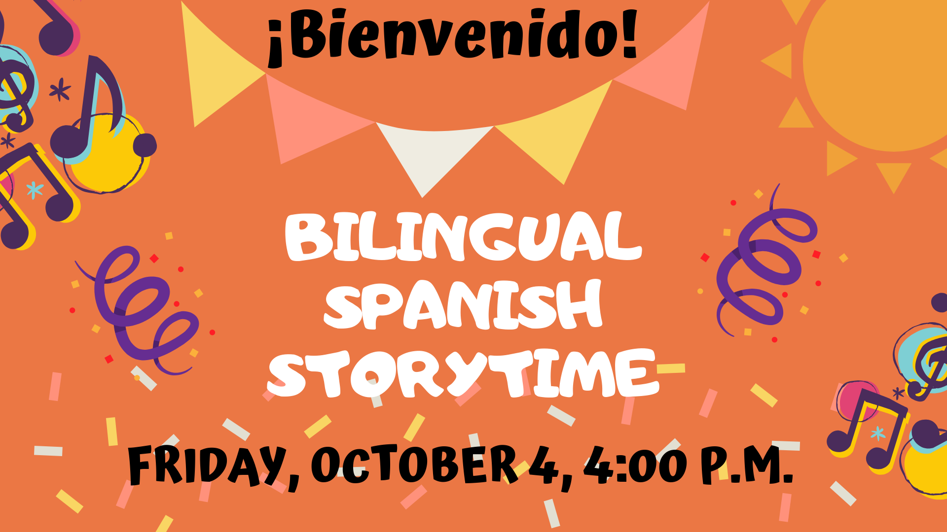 bilingual storytime graphic