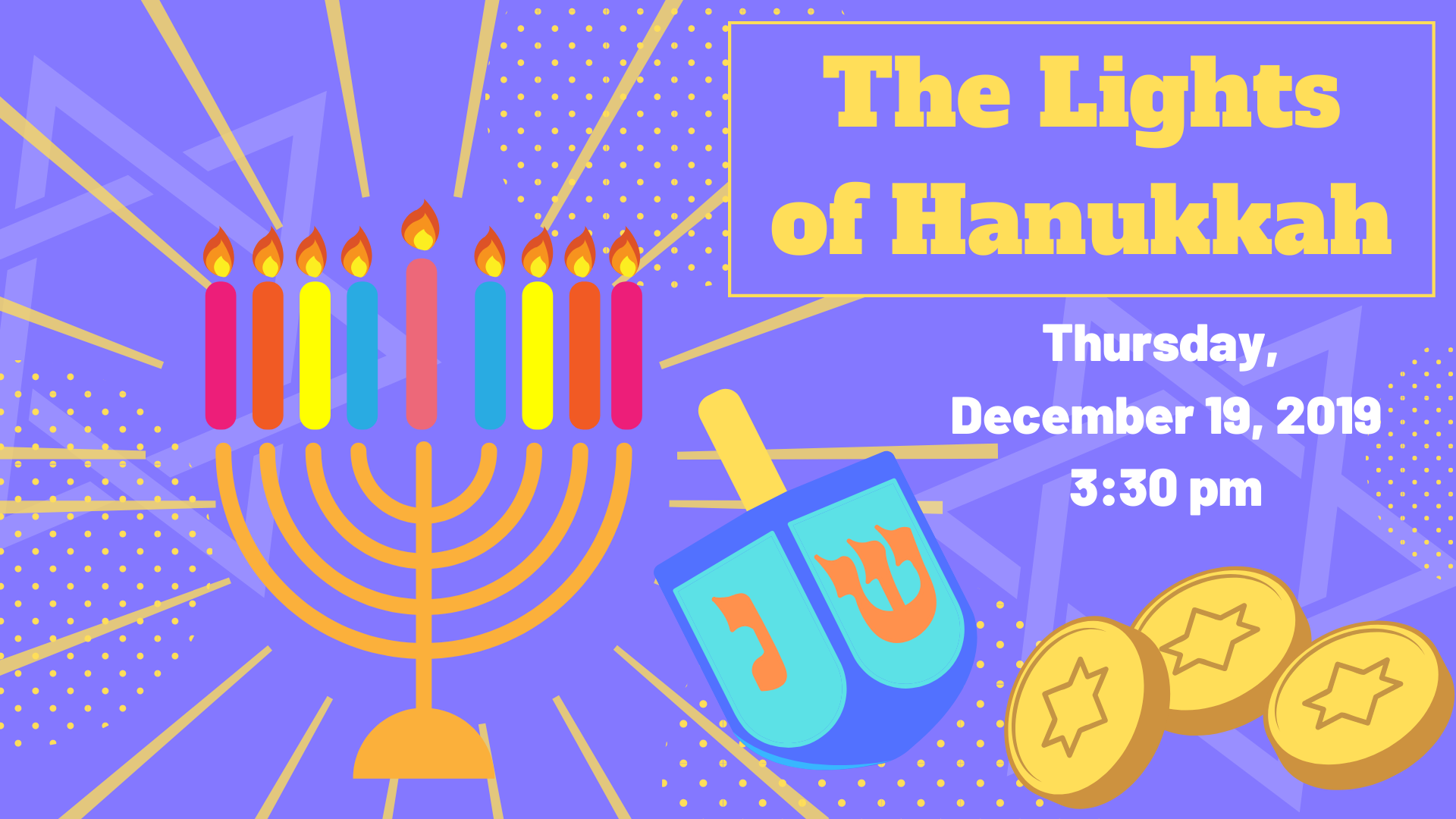lights of hannukah graphic