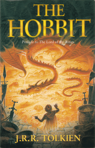 Book cover of The Hobbit.