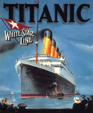 Book cover of Titanic.
