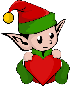 Image of an elf in a red and green cap.