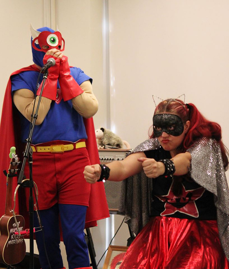 Photo of superhero performers!