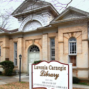 Photograph of the Lavonia-Carnegie Library