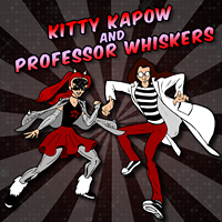 Poster for kitty kapow and professor whiskers