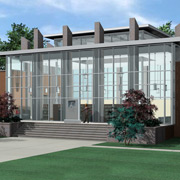 Rendering of the future Royston Library Entrance.