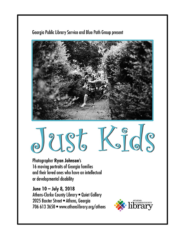 Just Kids exhibit in the Quiet Gallery of the Athens-Clarke County Library. On display June 10-July 8.